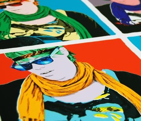 Warhol Druck als Poster oder Plakat